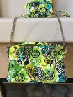 VERA BRADELY Beautiful Shoulder or Cross Bag with Matching Wallet. Sale