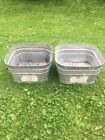 VINTAGE Lawson/wheeling Galvanized Metal Double Wash Tubs Replacement Set