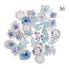 45pcs Kawaii Journal Diary Decor Flower Stickers Scrapbooking Stationery Supply