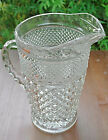 Vintage Anchor Hocking Precut Glass WEXFORD Pitcher Tall Excellent Cond.