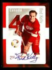 RED KELLY 2014 POST CANADA STAMP AUTO SIGNED SIGNATURE SP HOCKEY LEGENDS CARD!