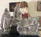 Set/ 3 Belsnickle Santa Reindeer Boy Tree Tin Style Silver Resin Chocolate Mold
