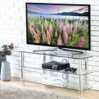 Clear TV Stand Media Audio Tower Cabinet For 32 37 45 50 55 60 65