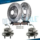 Front Brake Rotor Ceramic Pad Wheel Hub Kit for Chevy Equinox Saturn Vue Torrent