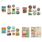 8EE4 Travelers Notebook Decorative Stickers Travel Book Print Decor Decals