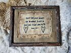 Primitive Country Stitchery Home Decor 8x10 FRAMED