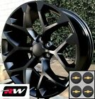 20 inch Chevy Silverado Factory Style Snowflake Wheels Satin Black Rims 20 x9