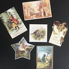 Christmas Cards Reproduction Antique Postcards Holiday Crafts DIY Scrapbook Tags