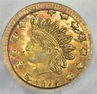 PCGS 1874/3 50c MS61 lustrous toned overdate Induan with 10 star appeal