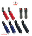 6 Pcs Mix Color 50oz with Artifiacl Leather Case Key Chain Pepper Spray