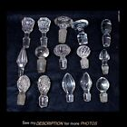 Antique Lot 15 Clear Assorted Glass Stoppers Cruet Apothocary Decanter Bottle
