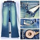Vintage Diesel Button Fly Bell Bottom Flare Jeans Womens Stretch Pants 29x31