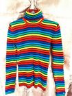 womens TOMMY HILFIGER SWEATR LONG SLEEVE STRIPER COLORFUL KNITTED SIZE M