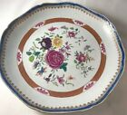 Antique 1800's Chinese Export Famille Rose Large Serving Plate Scalloped Edge