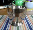 Vintage Fiesta SILVER LUSTRE over GREEN EGG CUP ~ RARE ~