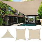 Sun Shade Sail Patio Pool Canopy Lawn Awning Shelter Triangle Square Rectangle