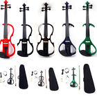 New 4 4 Electric Silent Violin + Case + Bow + Rosin+Headphone+ Battery 3 Style