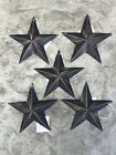 (Set of 5 ) Highly Distressed ~ BLACK BARN STARS 5.5