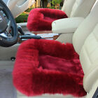 Colorful Wool Soft Warm Fuzzy Auto Car Seat Covers Front Rear Cover Car Cushion