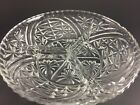 VINTAGE EAPC DIVIDED RELISH DISH CLEAR GLASS THREE DIVISIONS 7 1/2