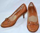 Womens Shoes Michae Kors  High Heels Brown Leather / Bow Loafers Ladies -   5.5M