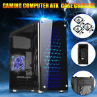 US M ATX ITX Tower Computer Gaming PC Case Cover Black 3 Fan Mounts USB 30