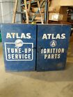 Vintage Industrial Wall Mount Tool Chest Cabinet Atlas Ignition stocked full!
