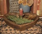Heart Wood Dough/Candle/Display BOWL*Primitive/French Country Farmhouse Decor