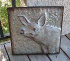 Embossed Galvanized Metal PIG Wall Art*Primitive/French Country Farmhouse Decor