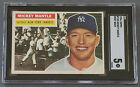 1956 Topps #135 Mickey Mantle EX SGC 5 Gray Back VERY SHARP CARD!!!!!!!