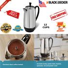 Farberware 12 Cup Percolator Stainless Steel Electric Coffee Pot Superfast New