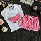 Baby Girls Clothing Set Summer Girls 2-7T Outfits Watermelon Pattern Print T Shi