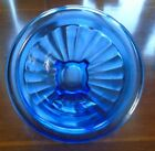 VINTAGE DEPRESSION GLASS BLUE RIBBED SMALL MIXING NESTING BOWL HAZEL ATLAS 6-1/2