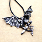 Fashion Personality Stainless Steel Silver Dragon pendants necklacee DZ126