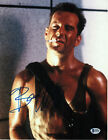 BRUCE WILLIS SIGNED 11X14 DIE HARD PULP FICTION BECKETT BAS AUTOGRAPH AUTO COA C