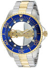 Invicta 26243 Pro Diver See Thru Dial Two Tone Stainless Mechanical Men's Watch