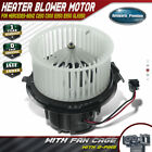 Front Blower Motor w FanCage for Mercedes Benz E350 C250	C300 C350 2008 2015