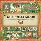 Graphic 45 CHRISTMAS MAGIC 8 12x12 Paper Collection Scrapbook Mixed Media