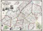 1853 Map of Morris County New Jersey Morristown