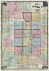 1856 Farm Line Map of Summit County Ohio Akron LARGE 40 x 58