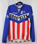 Vintage Campagnolo Brooklyn USA Flag Cycling Jersey by Giordana Size Mens Large