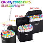 Ohuhu 40 80 PCS Permanent Paint Twin Marker Pen Dual Tips Art Sketch W Carry Bag
