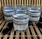 Vintage Jeannette Glass Patrician Greek Key 8 oz Whiskey Glasses Set of 8