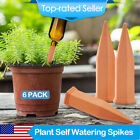 6PCS Automatic Terracotta Plant Self Watering Vacation Garden Watering Spikes