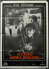 WINGS OF DESIRE 1987 ORIG 39X55 ITALIAN MOVIE POSTER WIM WENDERS BRUNO GANZ