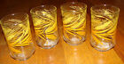 4 Libbey Rock Sharpe GOLDEN WHEAT Juice Drinking Glasses