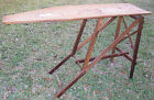 ANTIQUE IRONING BOARD GEM MFG. PACIFIC NORTHWEST SITKA SPRUCE WOOD BASCOM, OHIO