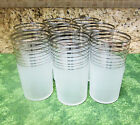 Clear Glass with Platnium Bands Tumblers