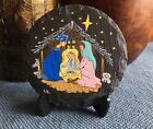 Hand Painted Rocks Nativity Christmas Gift Slate Stone Coaster Home Decor