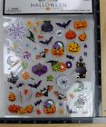 Paper Crafts BOO HALLOWEEN ICONS Stickers BATS SPIDERS CANDY PUMPKINS